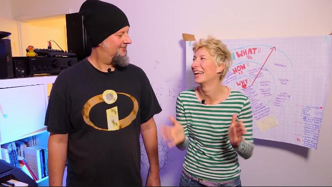 Pat und Pauseline beim Videodreh
